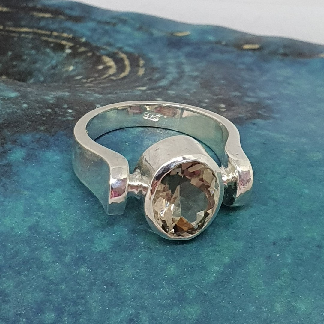 Sterling silver smoky quartz ring - made in NZ image 3