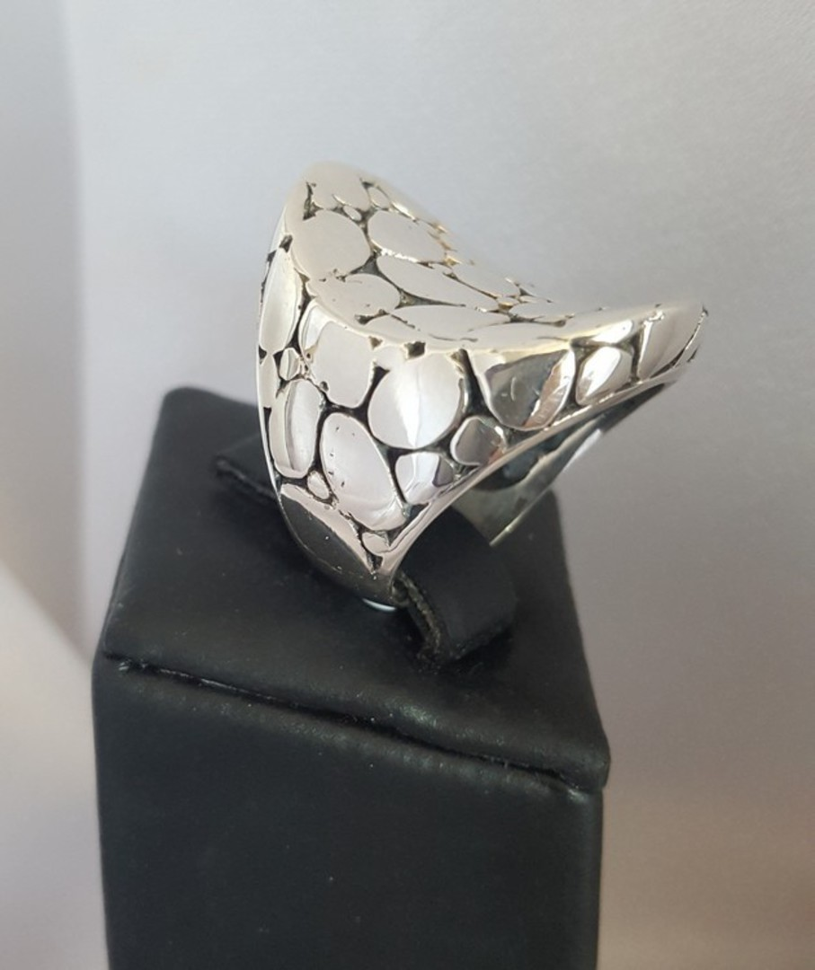 Awesome crazy paving sterling silver statement ring image 1