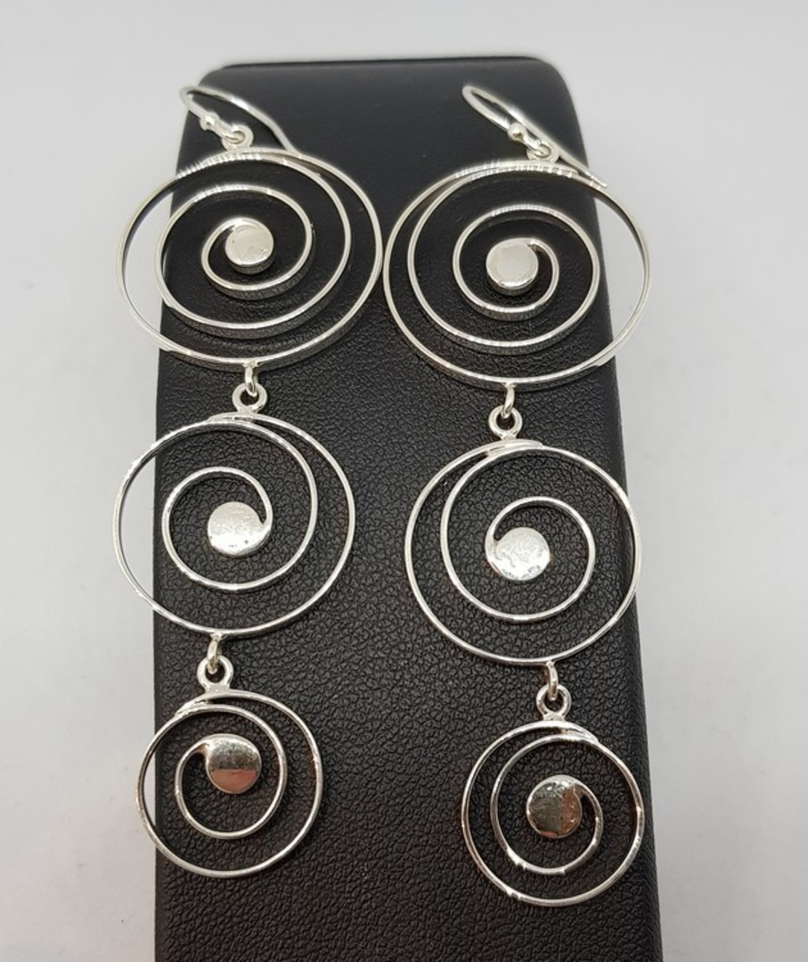 Cascading spirals of sterling silver image 1
