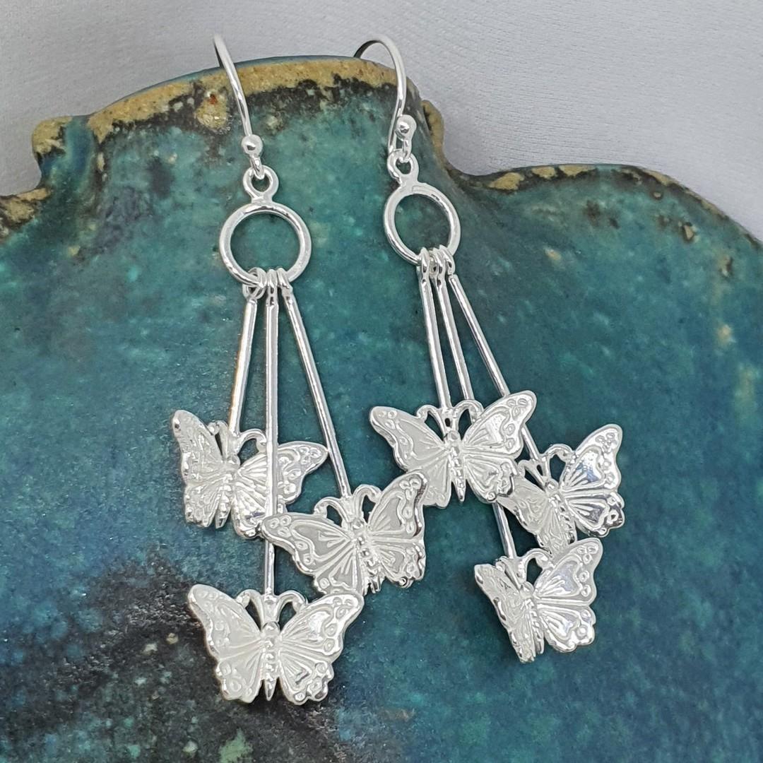 Sterling silver butterfly earrings image 4