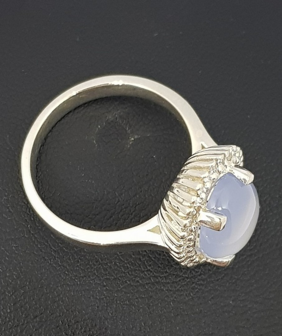 Sterling silver chalcedony ring image 1