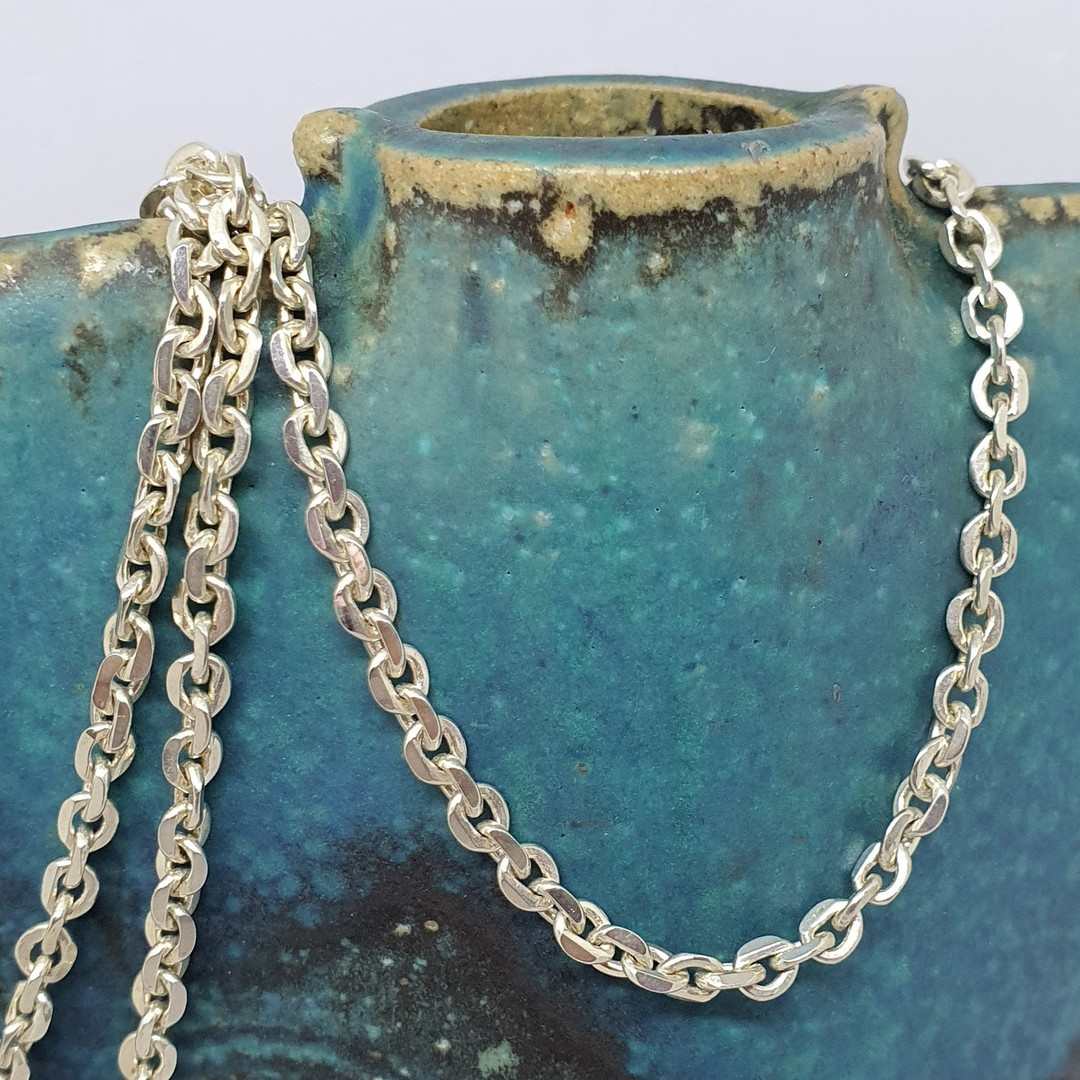 Sterling silver chain, 60cms long image 0