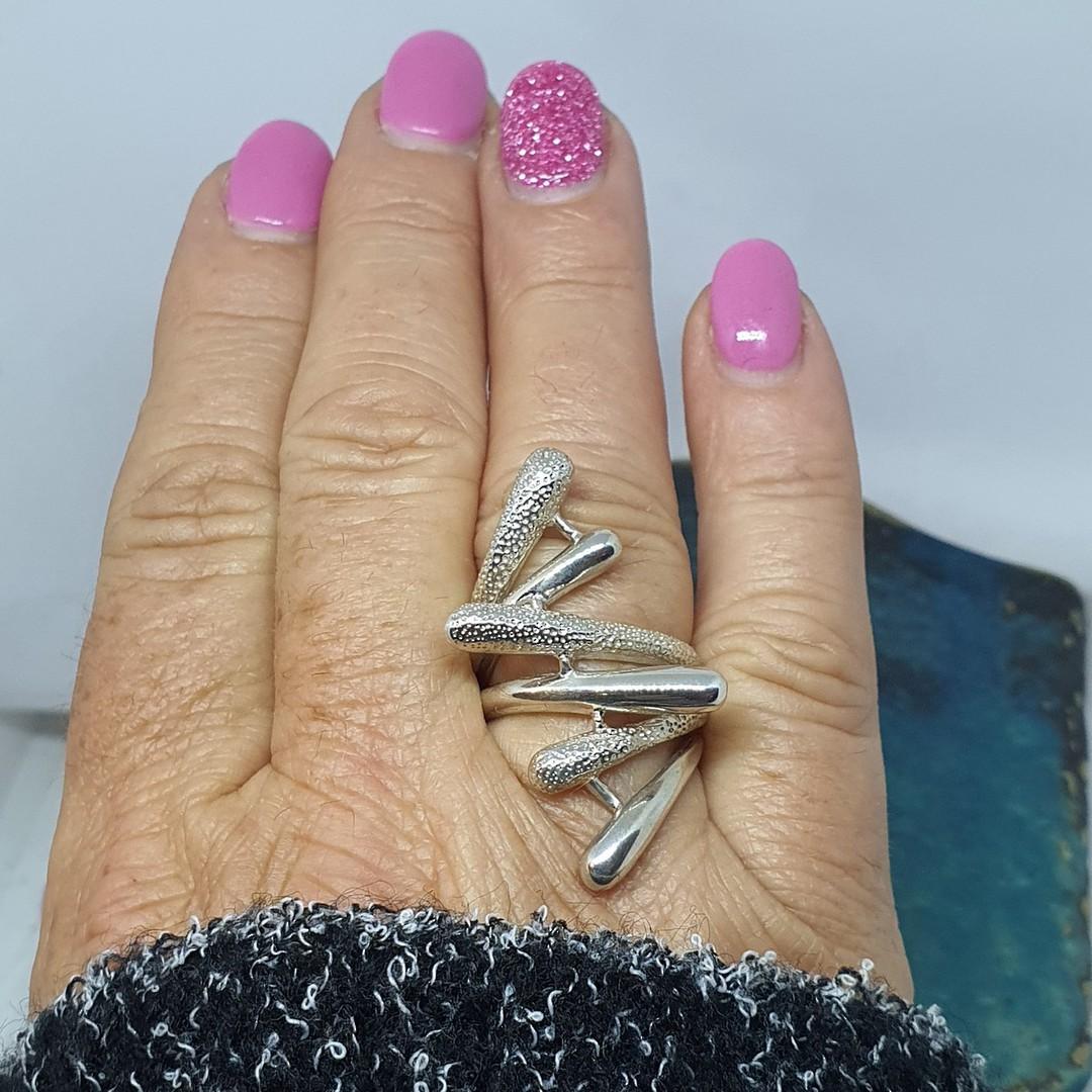 Sterling silver designer ring image 2