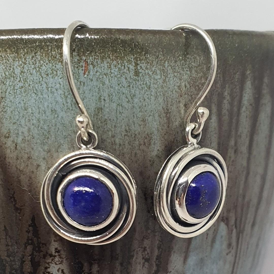 Lapis lazuli sterling silver earrings image 1