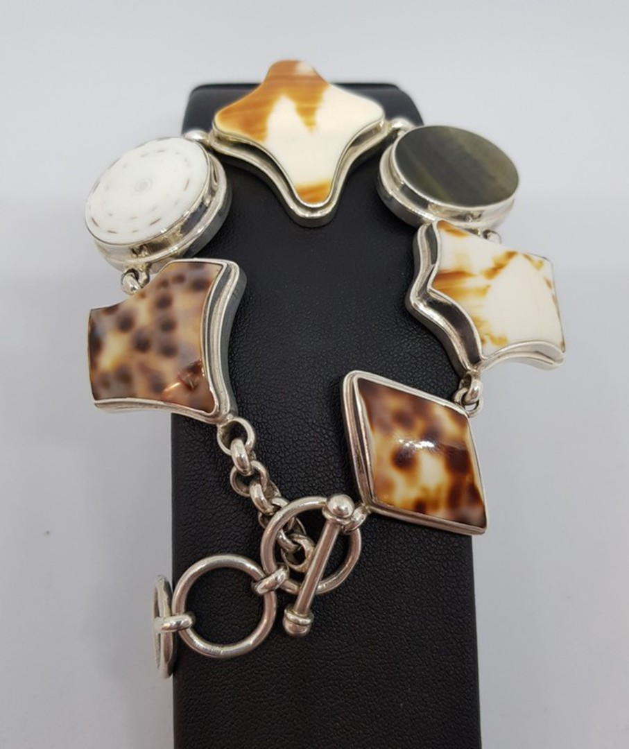 Solid sterling silver shell bracelet image 2