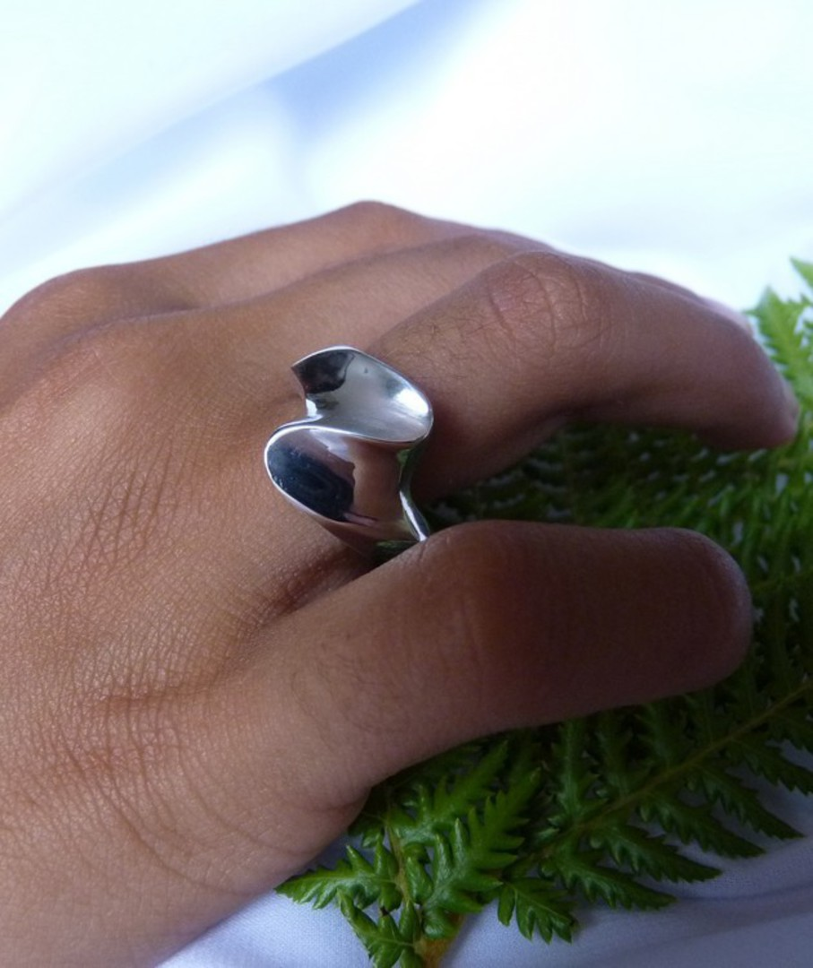 Solid sterling silver ring - made in NZ image 2