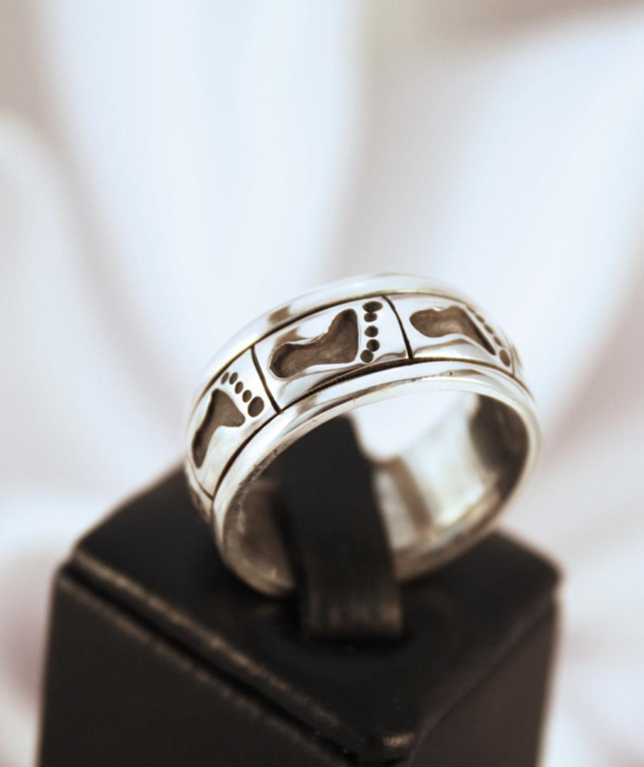 Sterling silver turning ring mans ring image 0