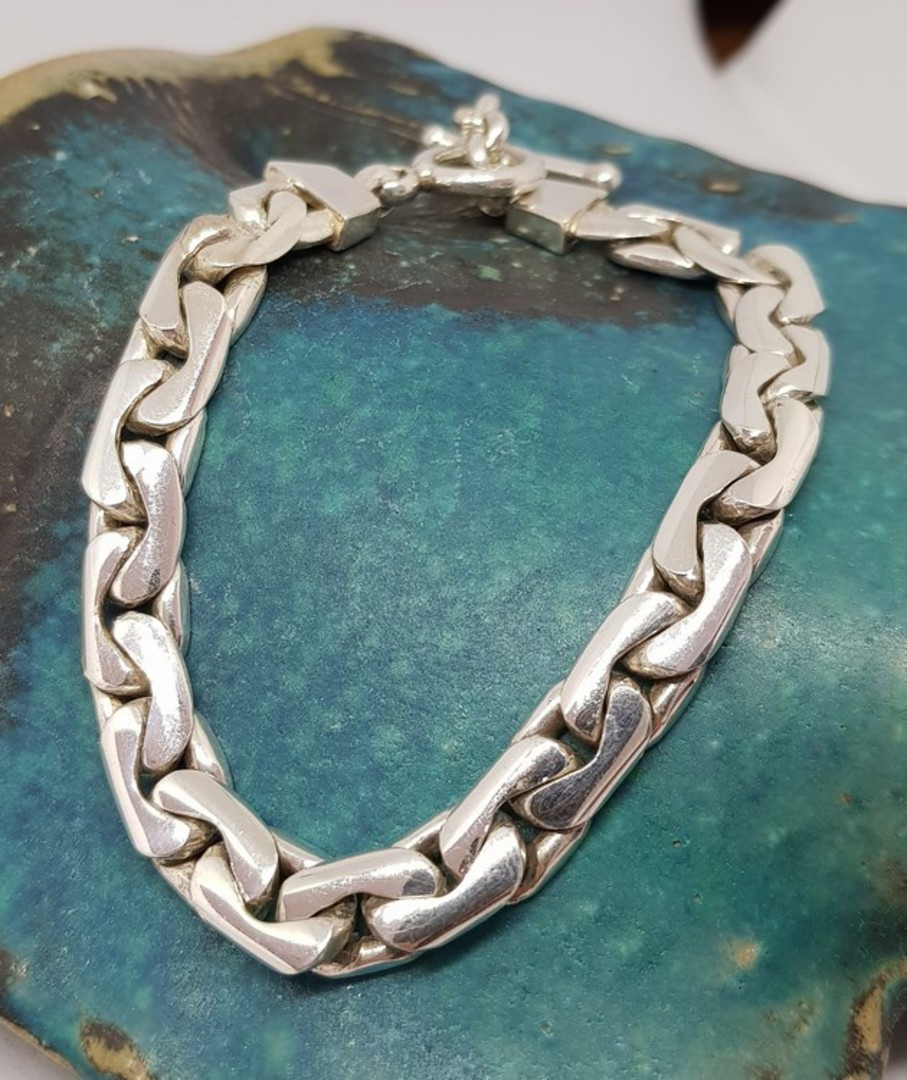 Sterling silver chain bracelet image 0