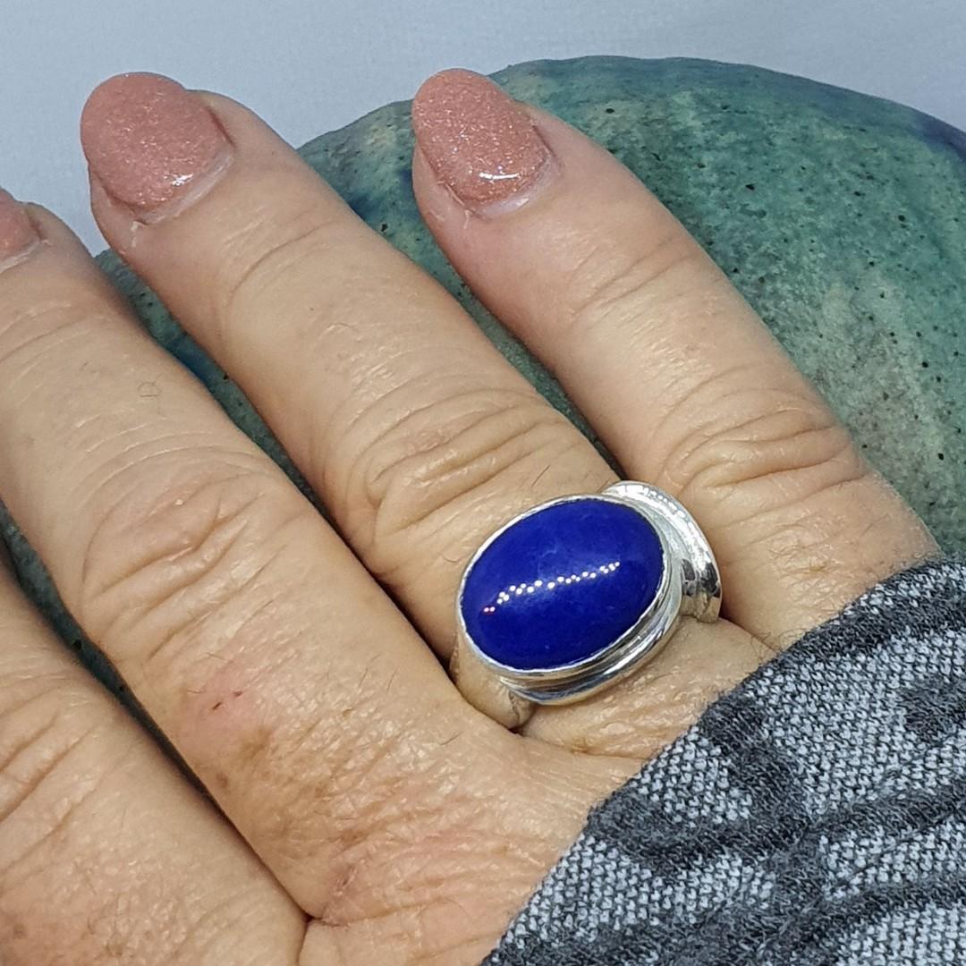 Sterling silver lapis lazuli ring image 2