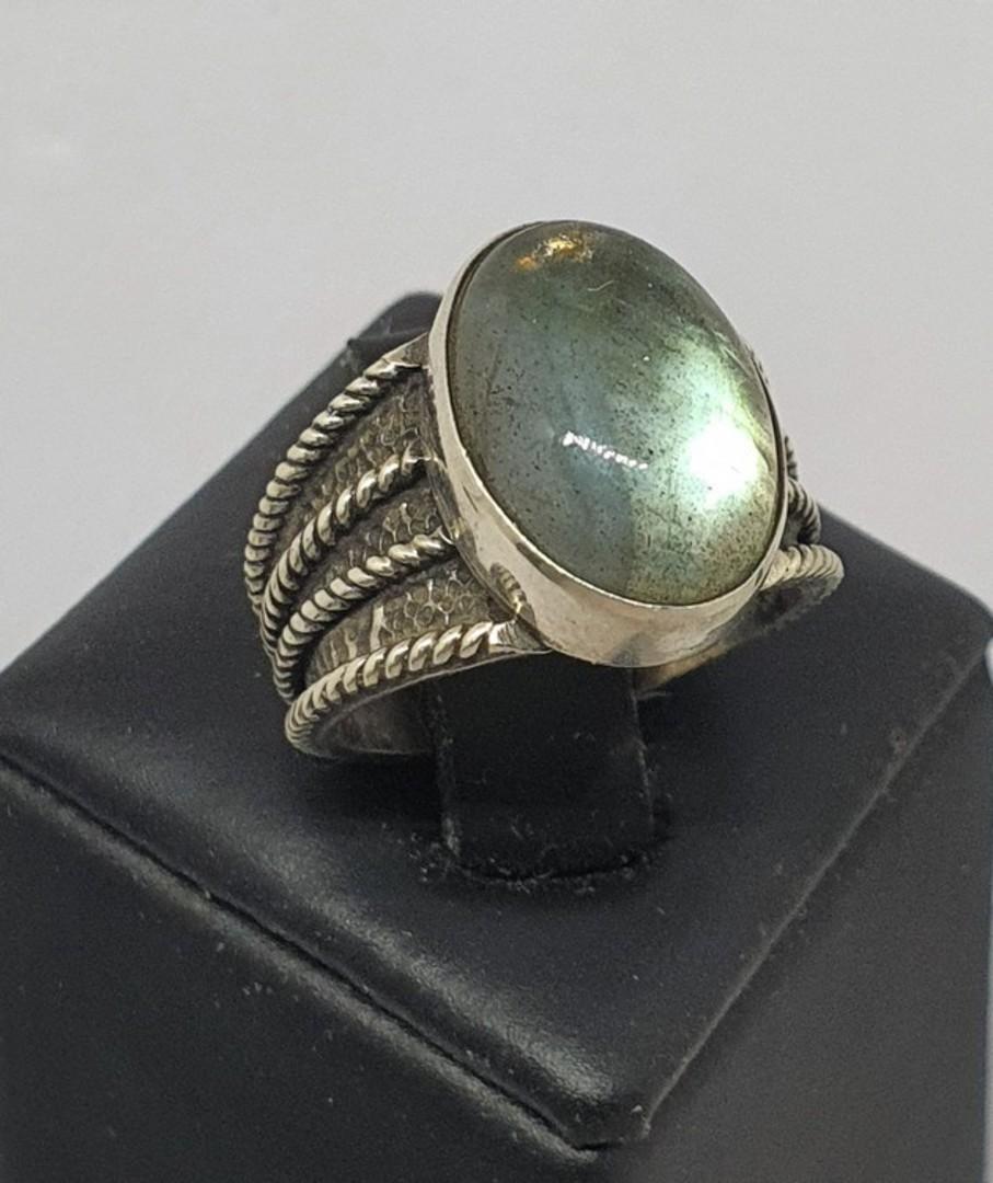 Super cute labradorite sterling silver ring image 0
