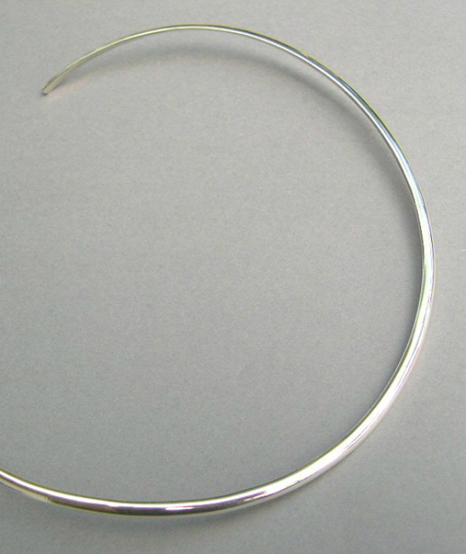 3mm Sterling Silver Collar image 0
