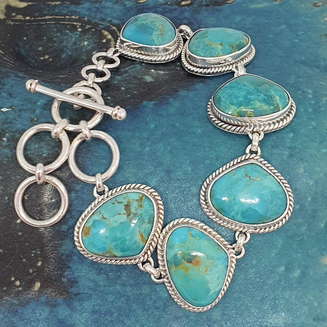 Sterling silver turquoise bracelet image 2