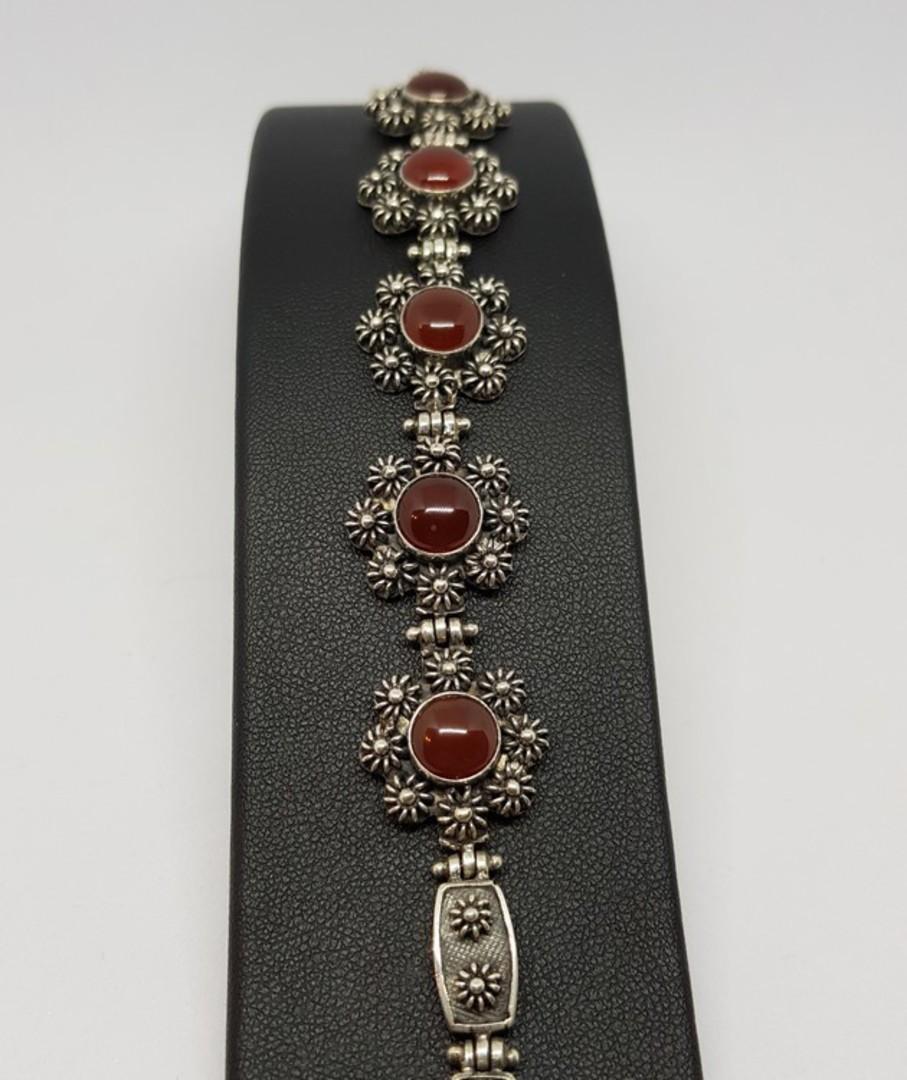 Sterling silver carnelian bracelet - price reduced image 4