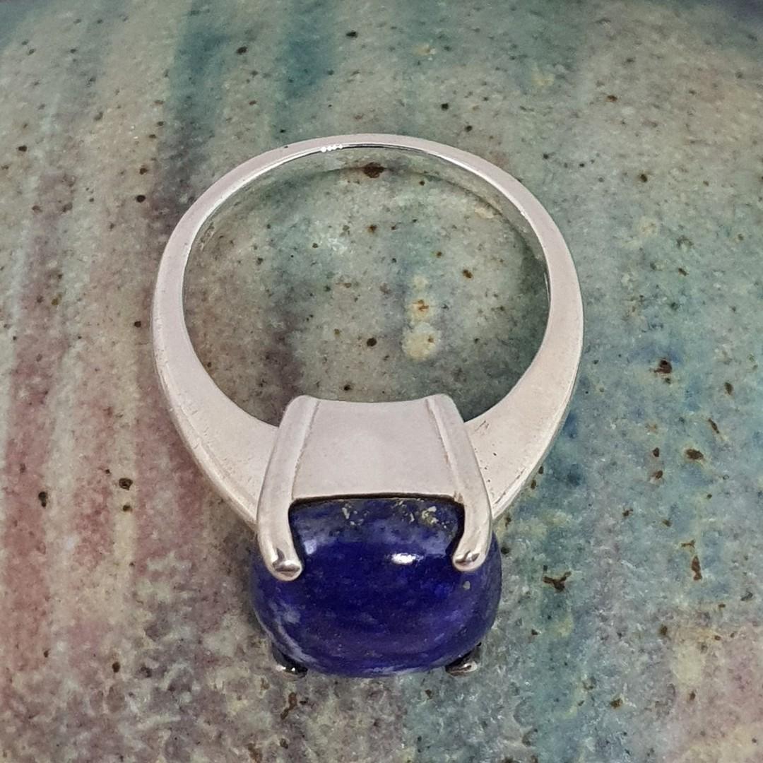Sterling silver lapis lazuli dress ring image 3