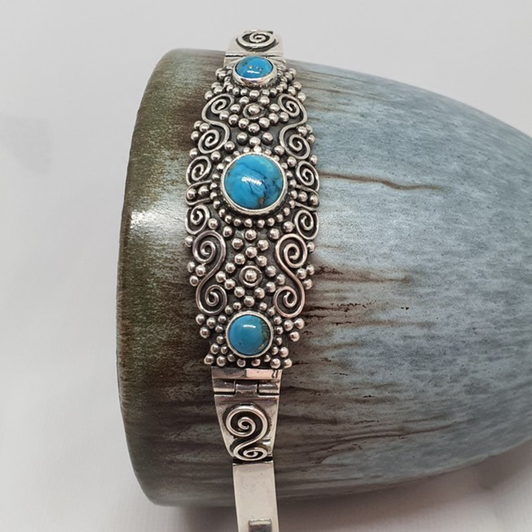 Sterling silver turquoise bracelet image 3