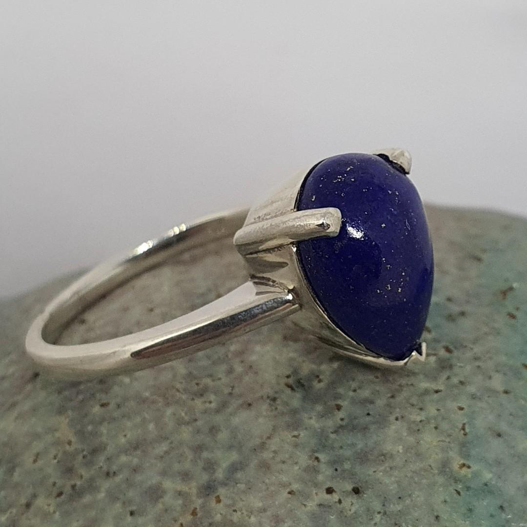 Sterling silver lapis lazuli dress ring image 0