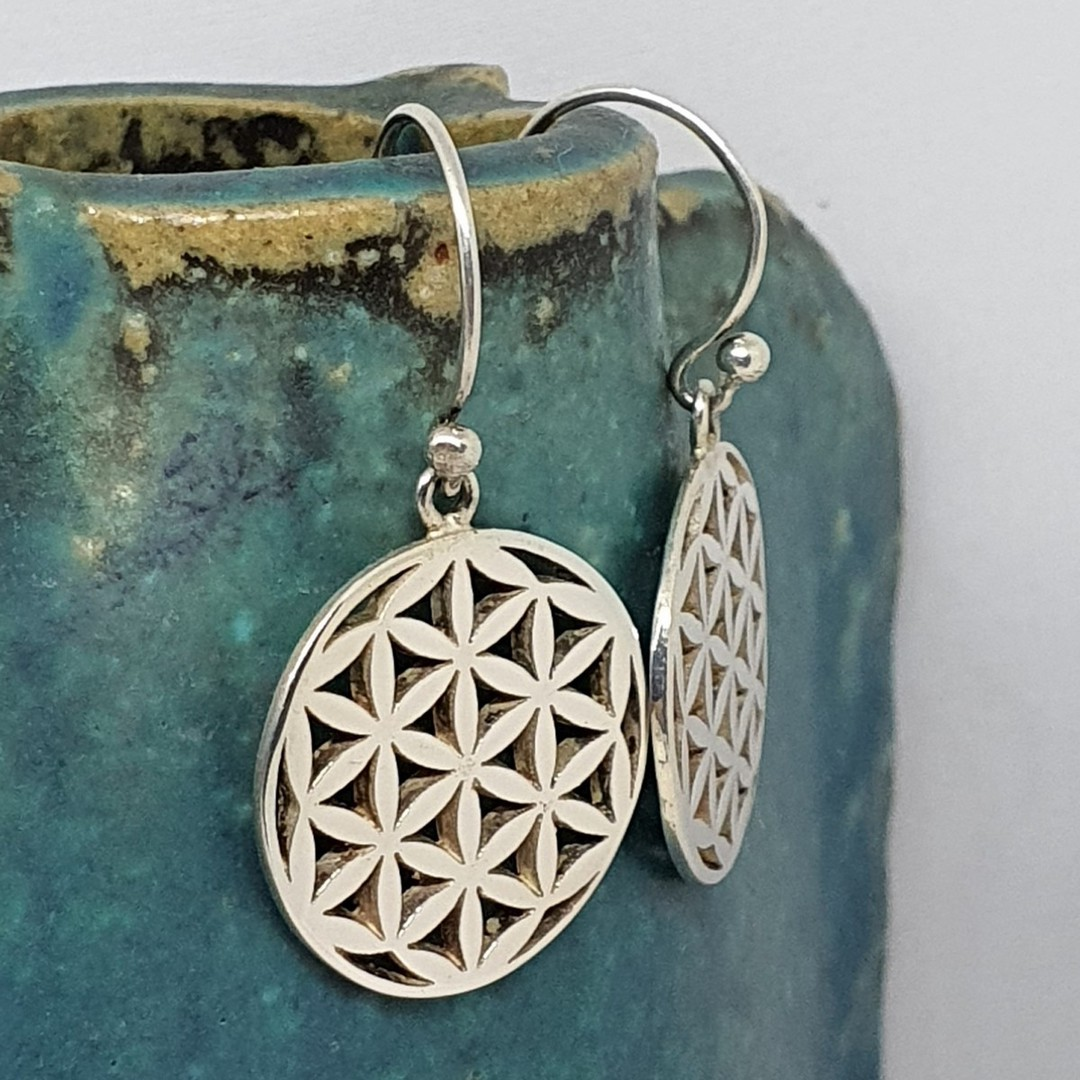 Sterling silver round infinity earrings image 0