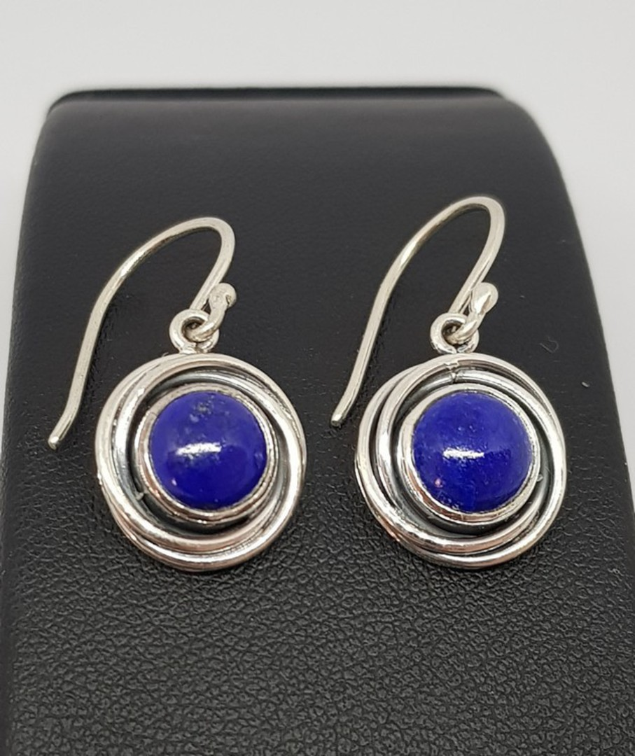 Lapis lazuli sterling silver earrings image 0