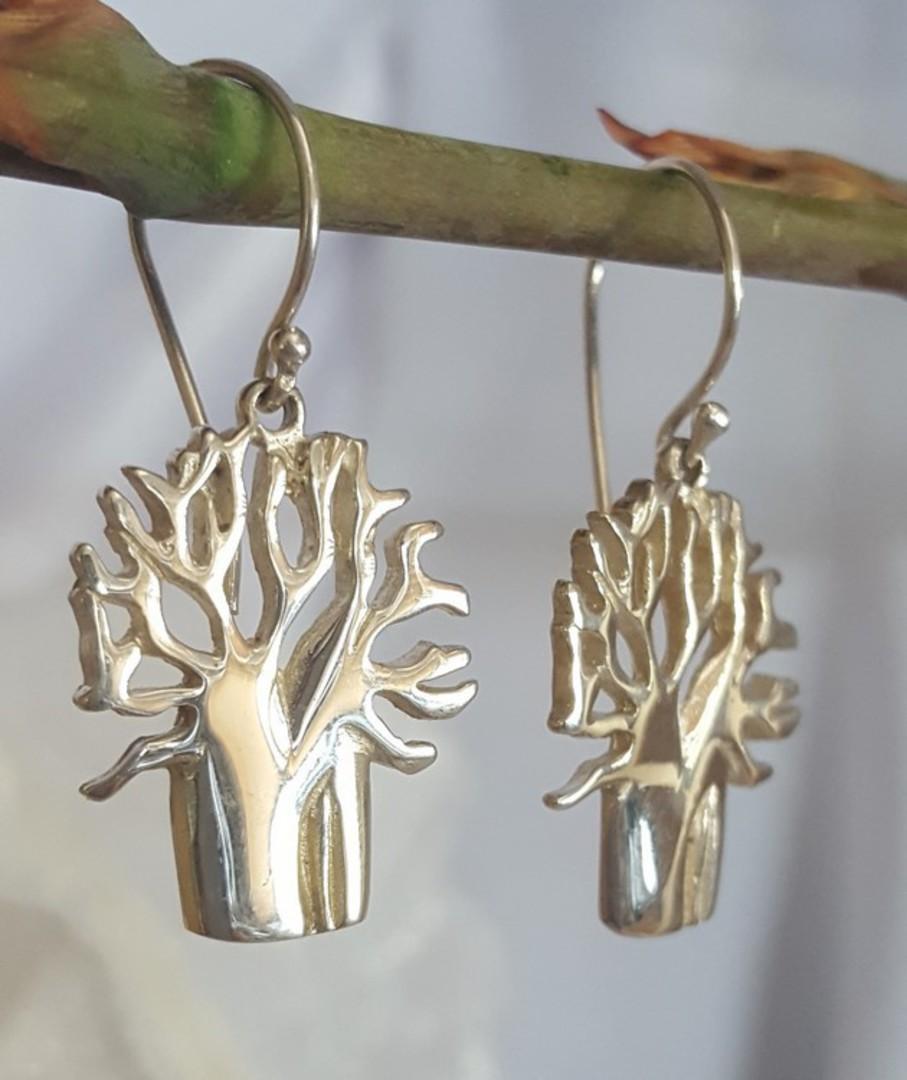 Sterling silver 925 tree of life earrings image 1
