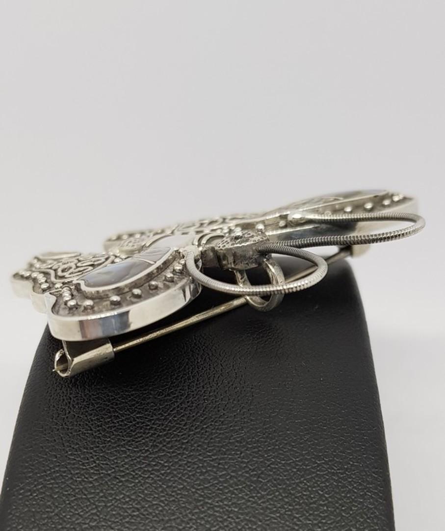 Sterling silver paua shell butterfly pendant/brooch image 3