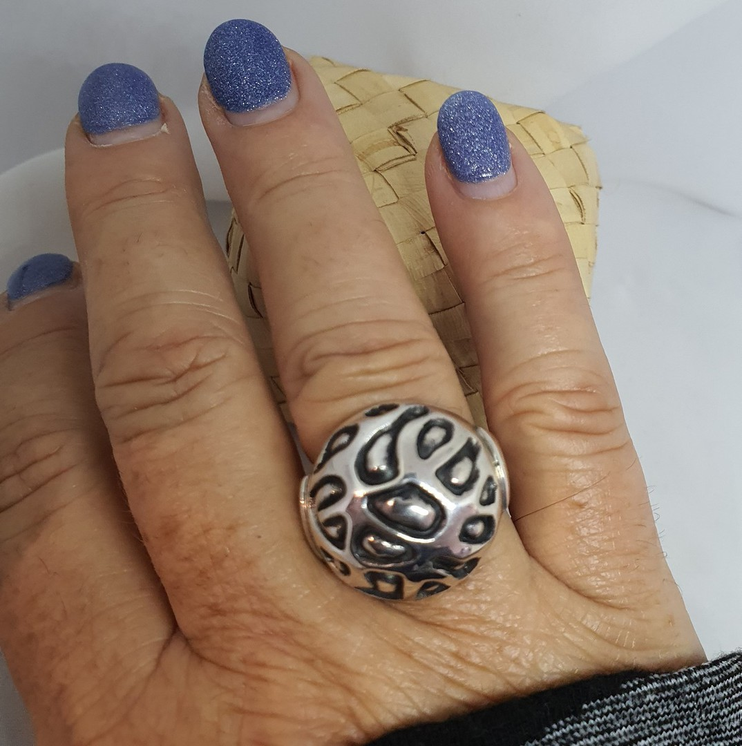 Chunky silver dress ring image 1