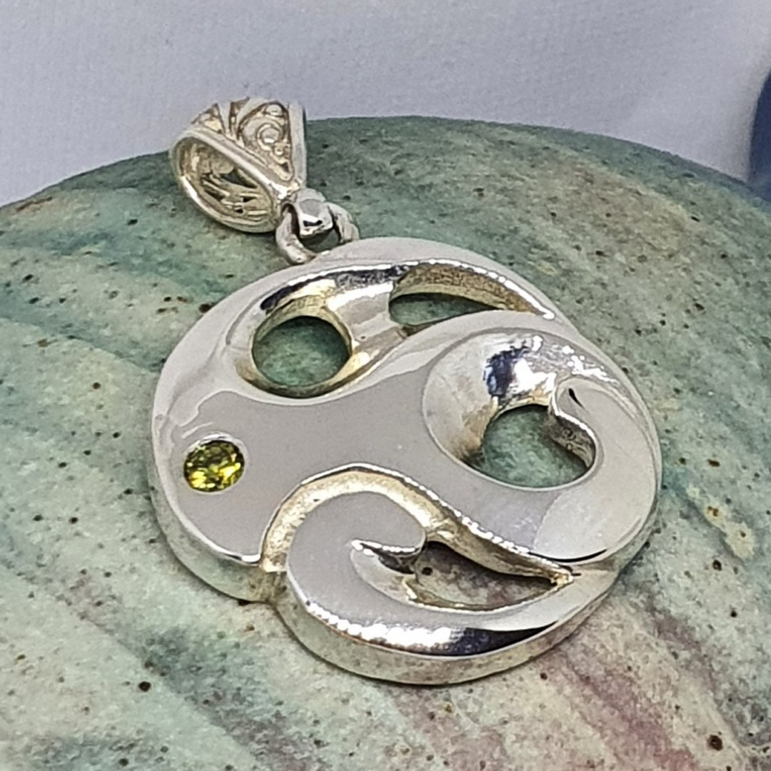 Made in NZ silver koru inspired pendant image 1
