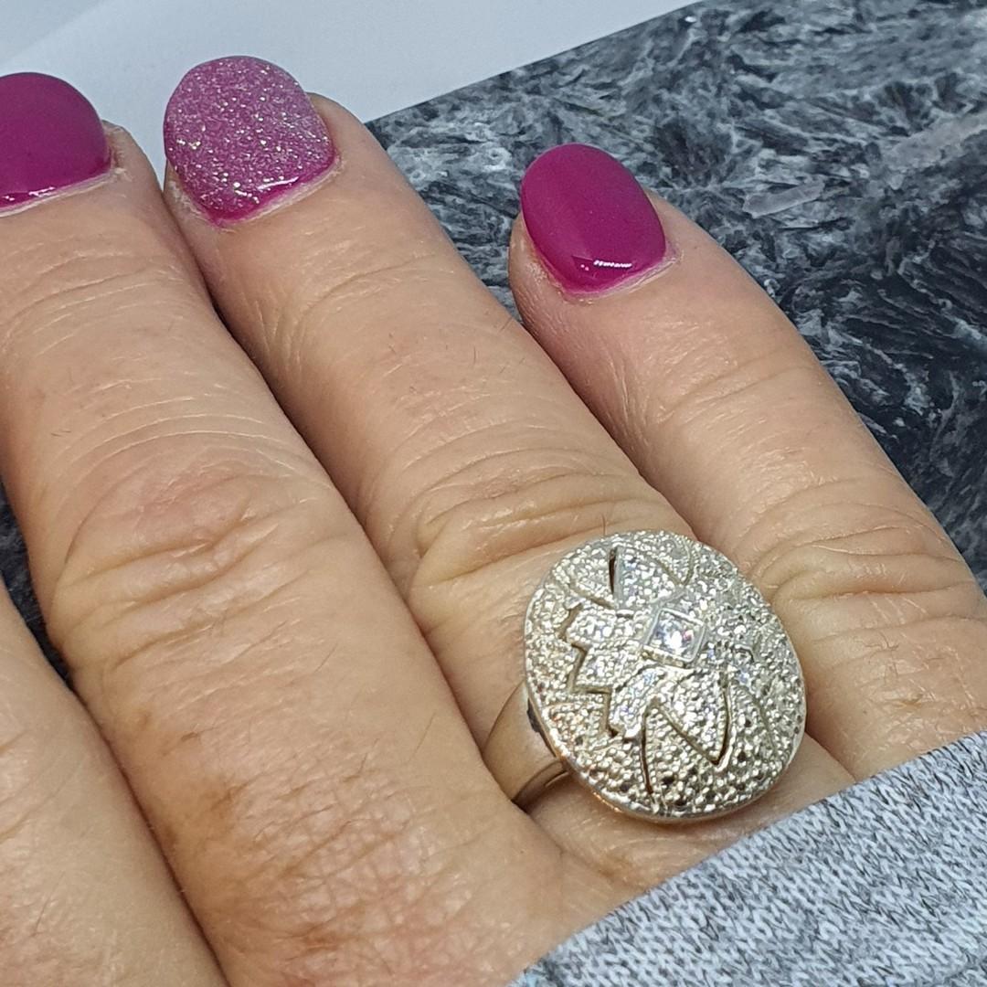 Sparkling cubic zirconia dress ring image 1