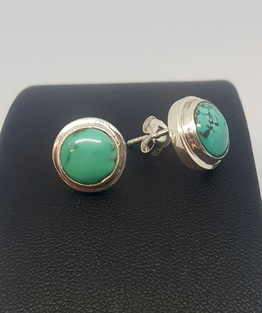 Sterling silver turquoise stud earrings image 0