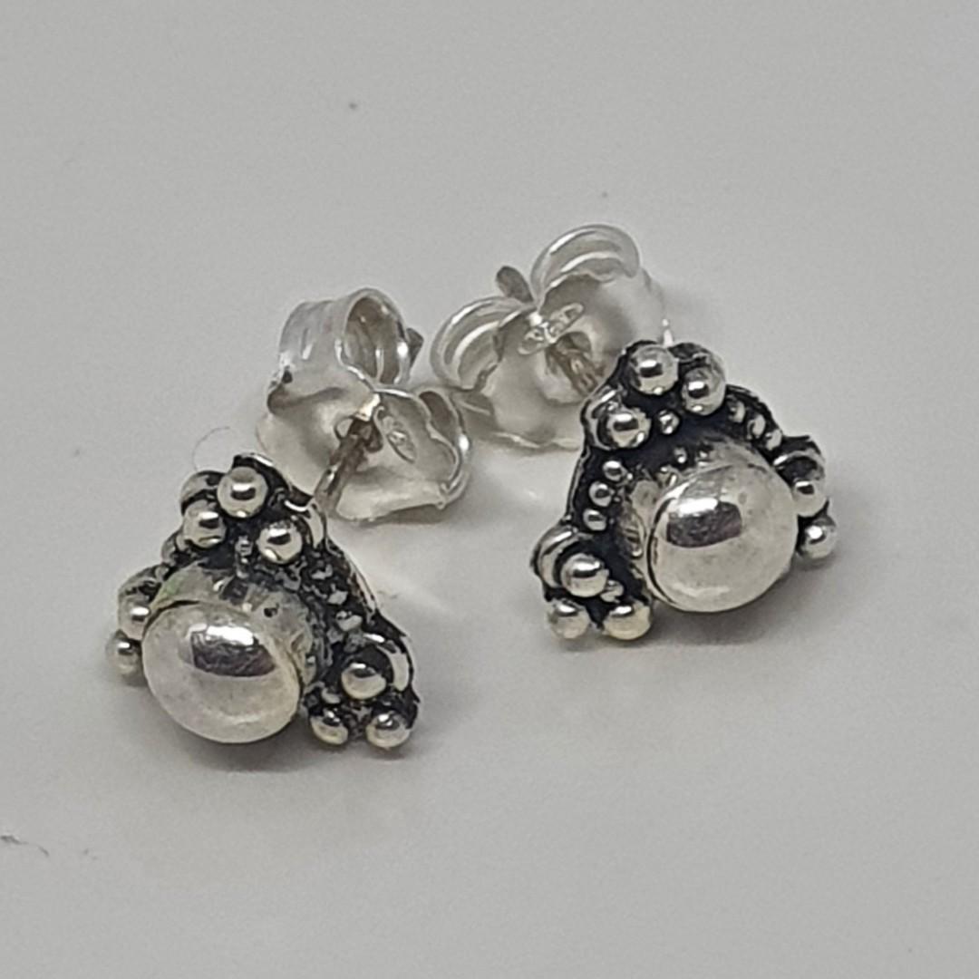 Sterling silver triangle stud earrings image 0