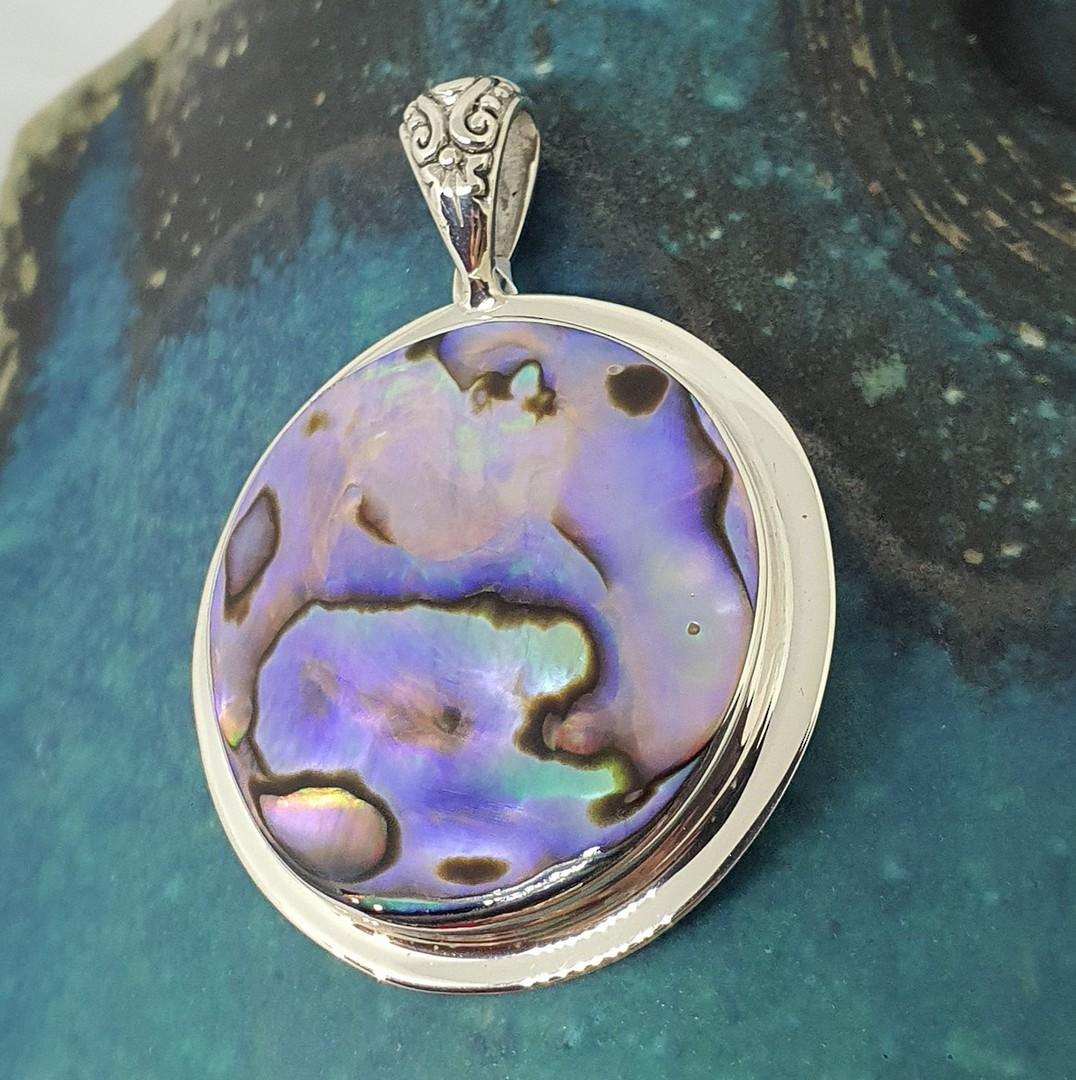 NZ Paua Shell Pendant image 2