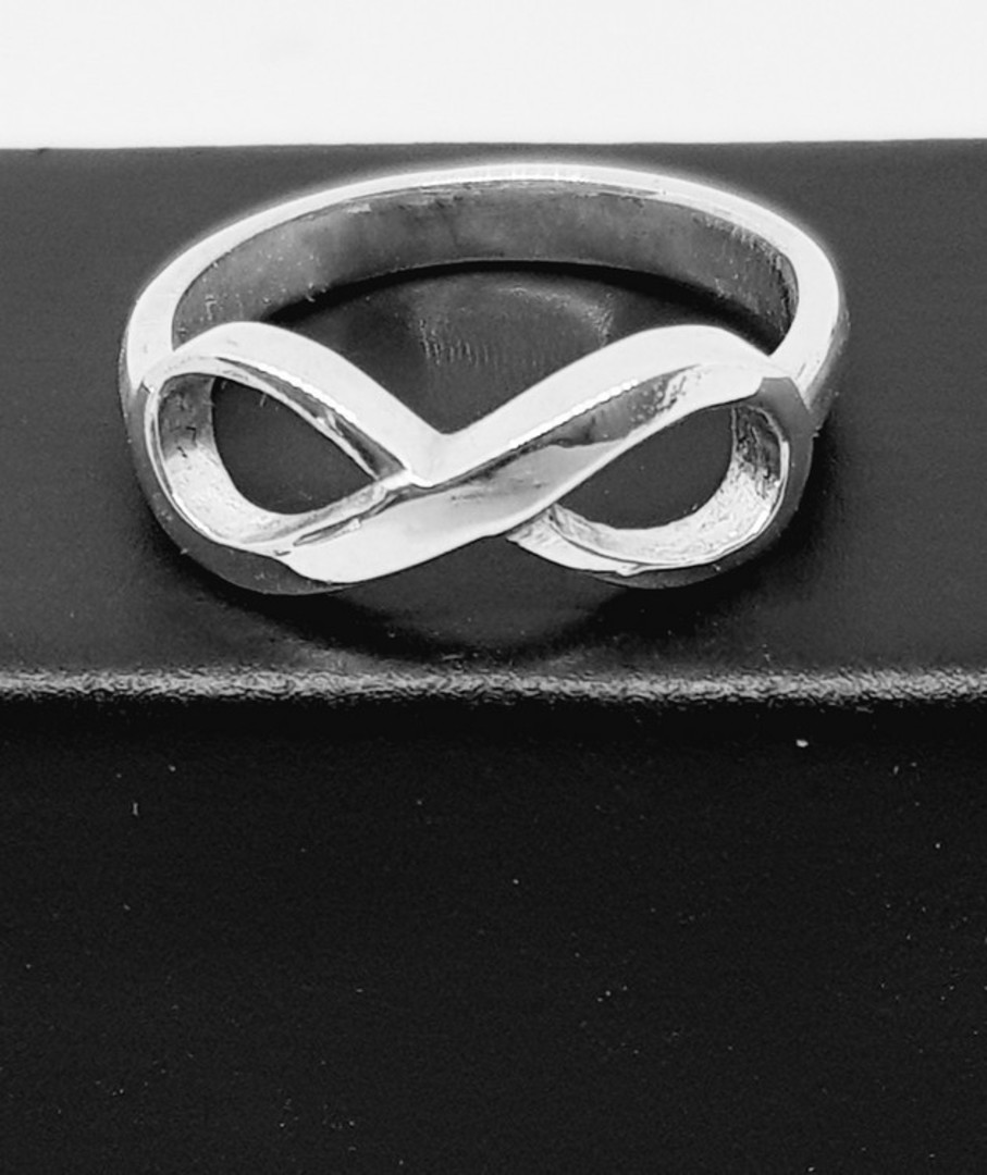 Sterling silver infinity ring band - made in NZ image 2
