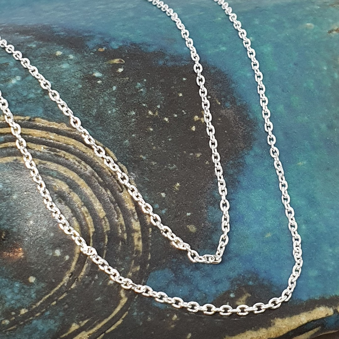 Sterling silver chain, 50cms image 0