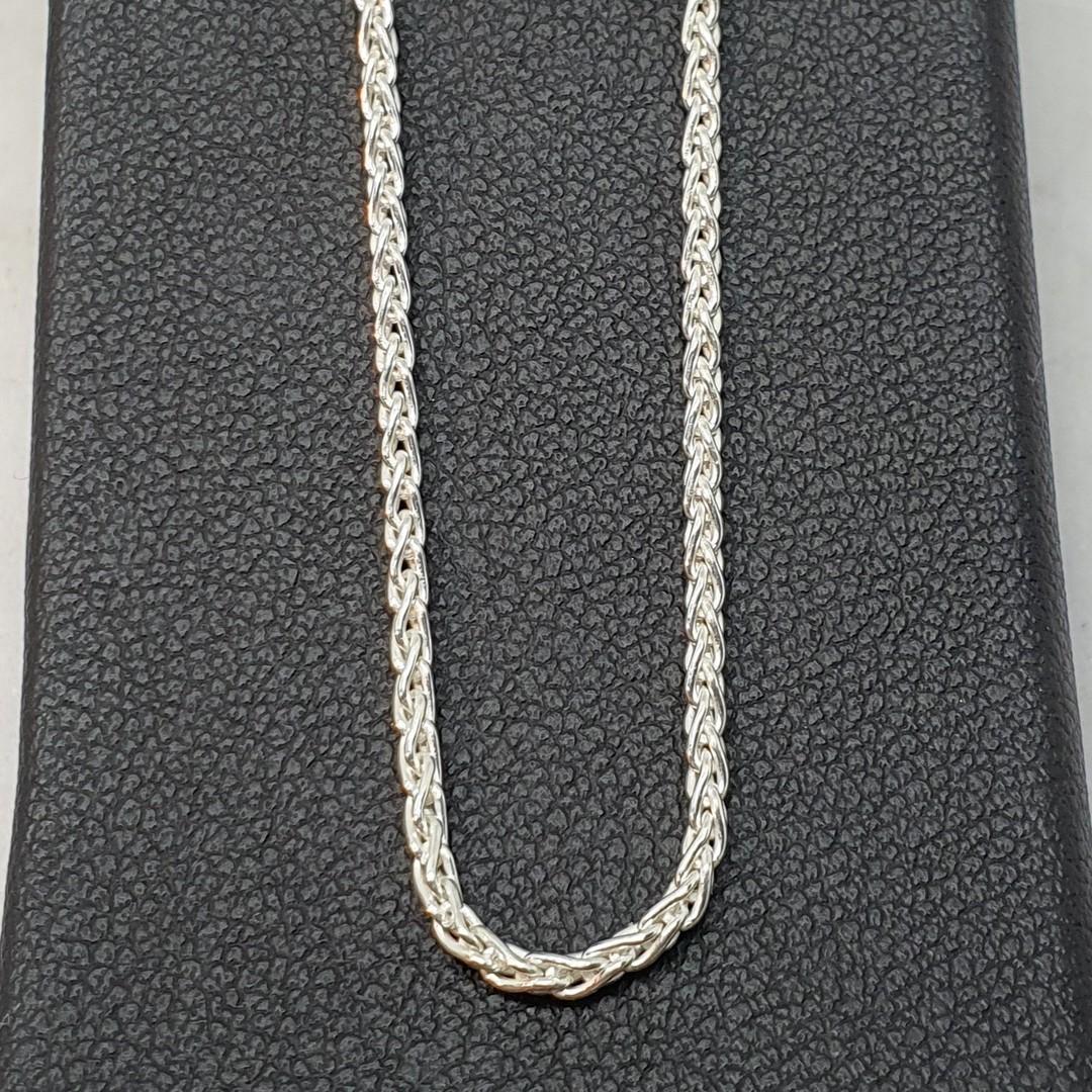 Fabulous long length sterling silver wheat chain, 70cms long image 1