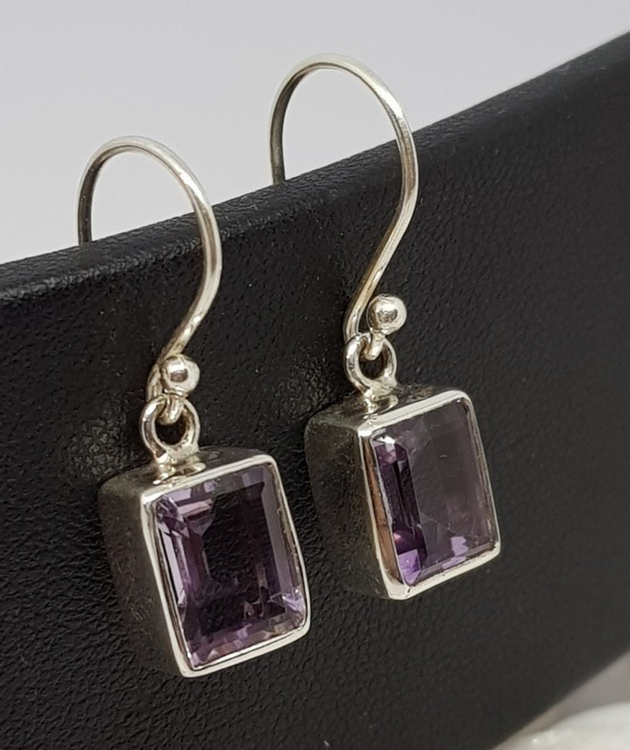 Sterling silver amethyst earrings image 0