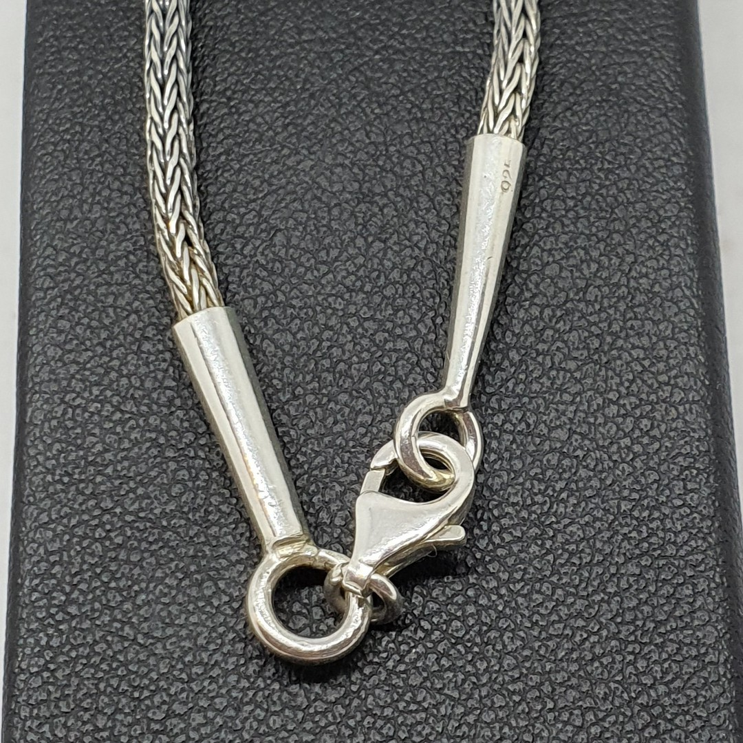 Sterling silver rope chain, 60cms long image 2