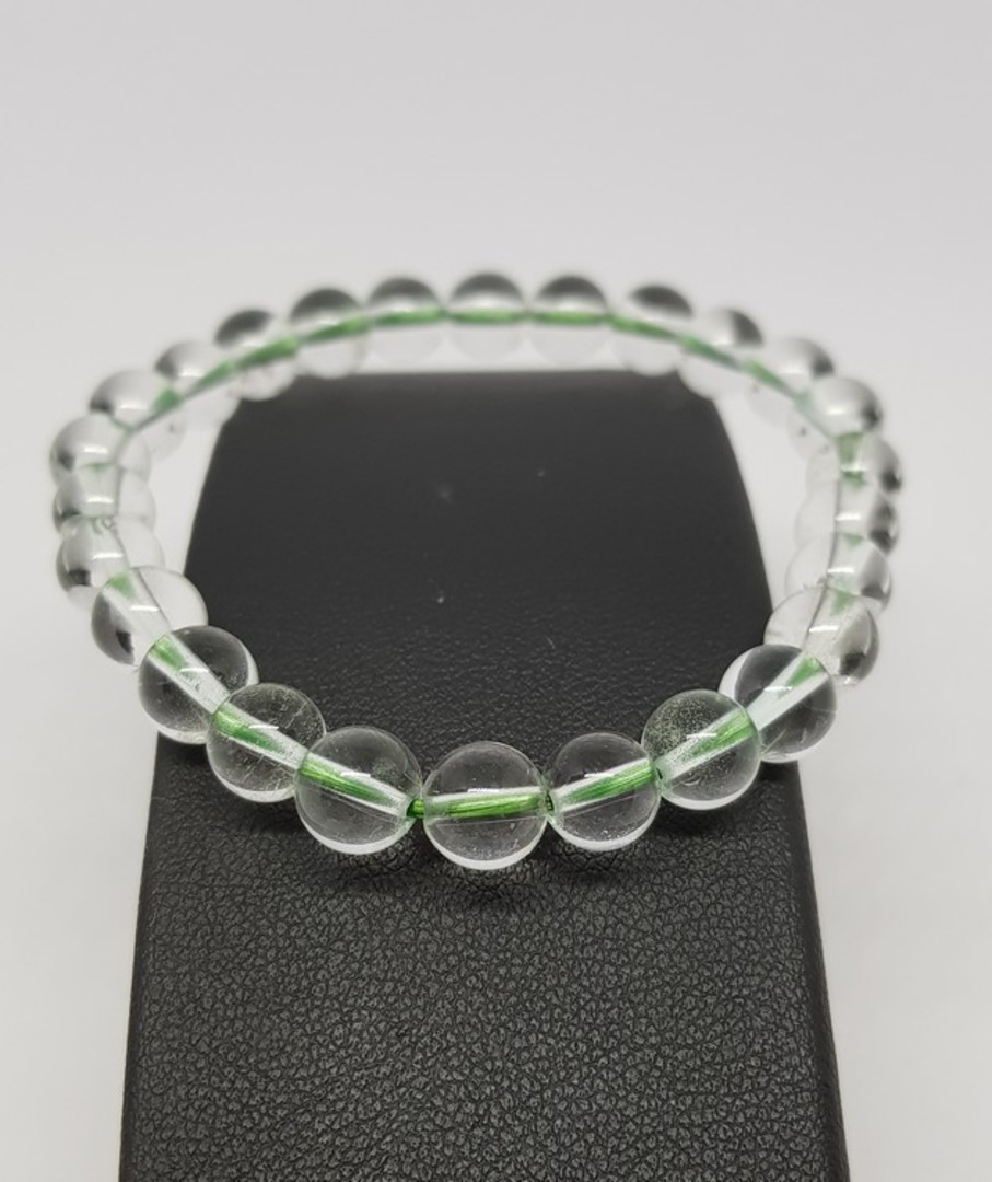 Phantom quartz beaded bracelet image 1