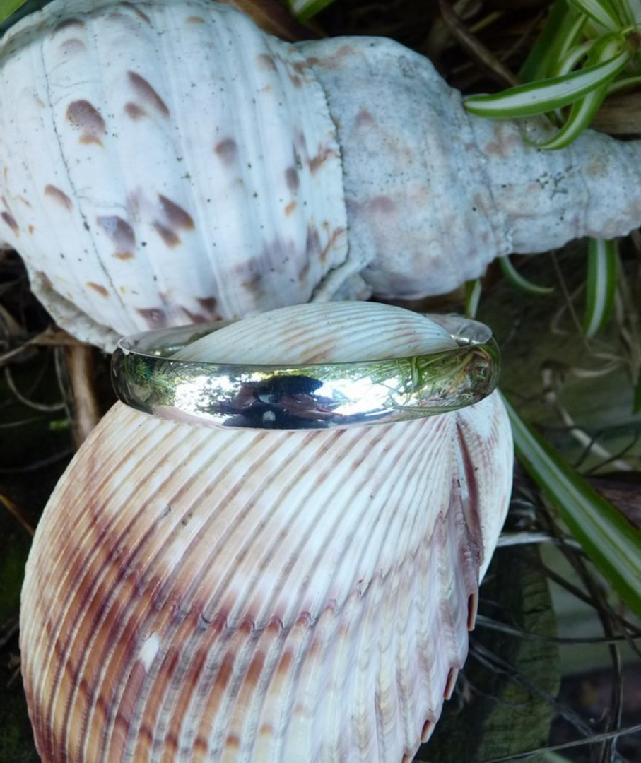 Heavy sterling silver bangle image 1