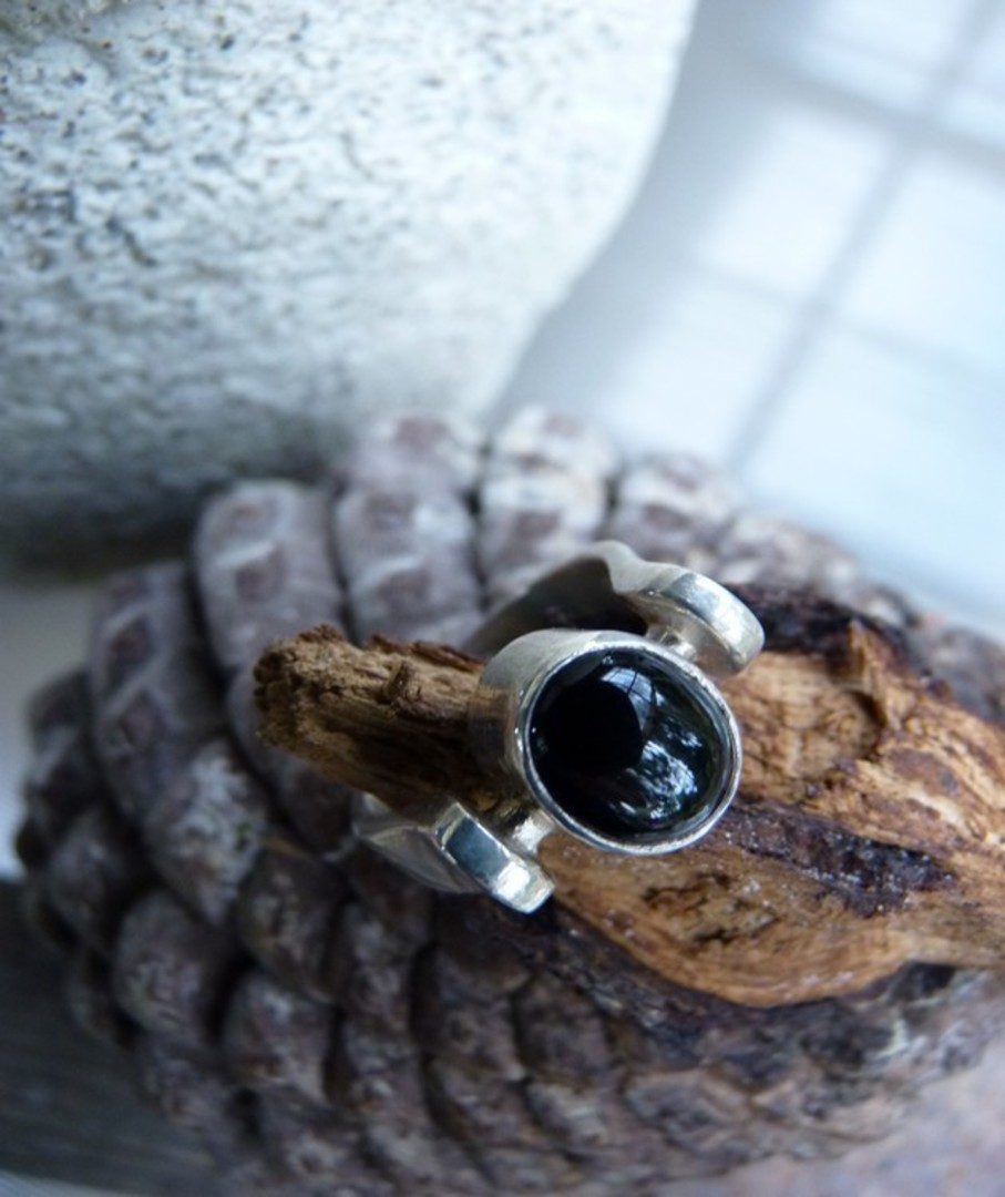 Sterling silver black onyx ring image 2