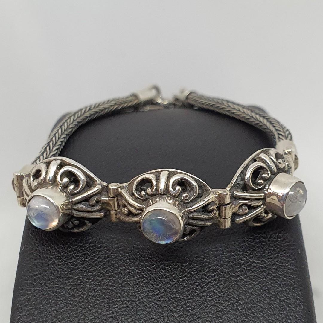 Delicate moonstone gemstone bracelet image 1
