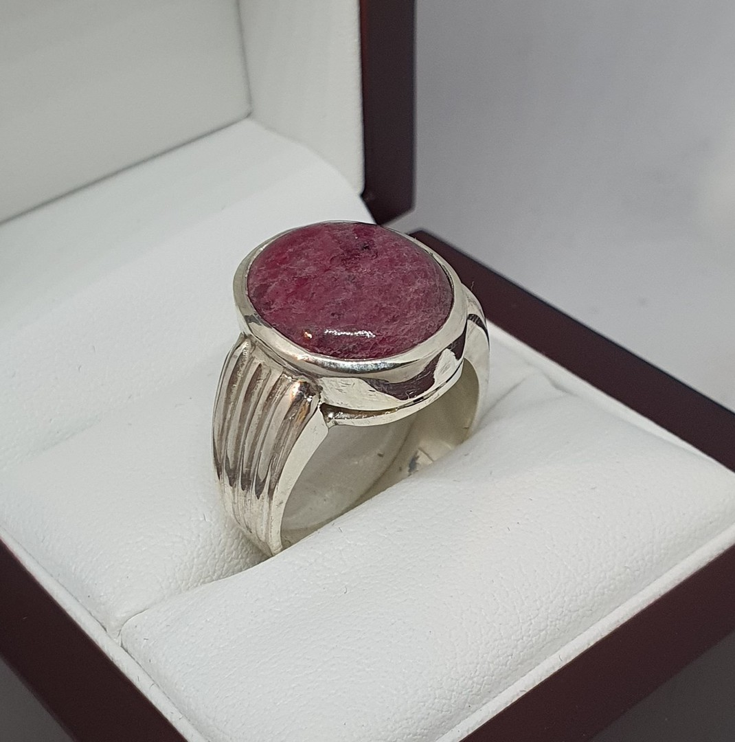 Made in NZ sterling silver ruby ring image 5