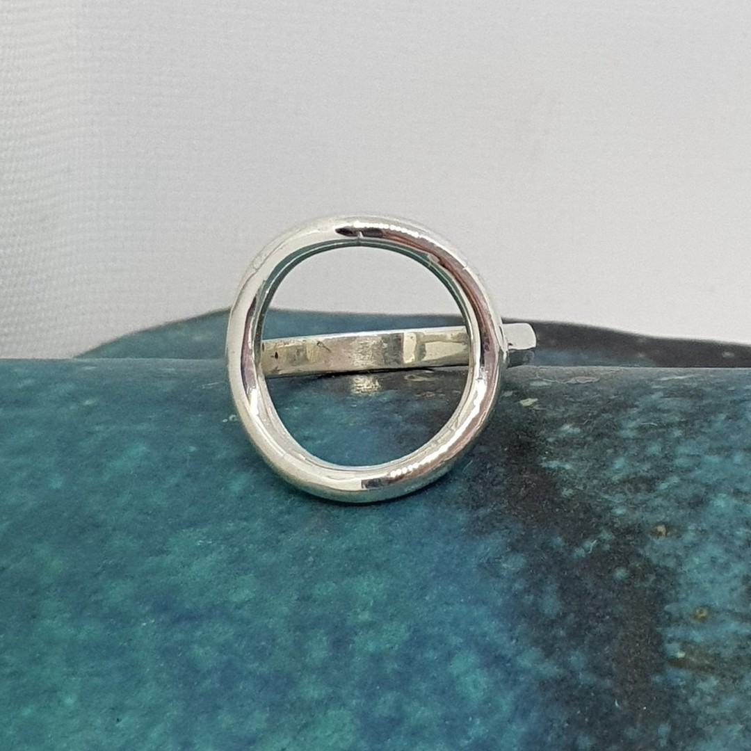 Sterling silver open circle ring - made in NZ image 0