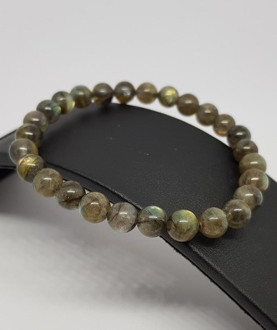 Natural labradorite beaded bracelet image 0