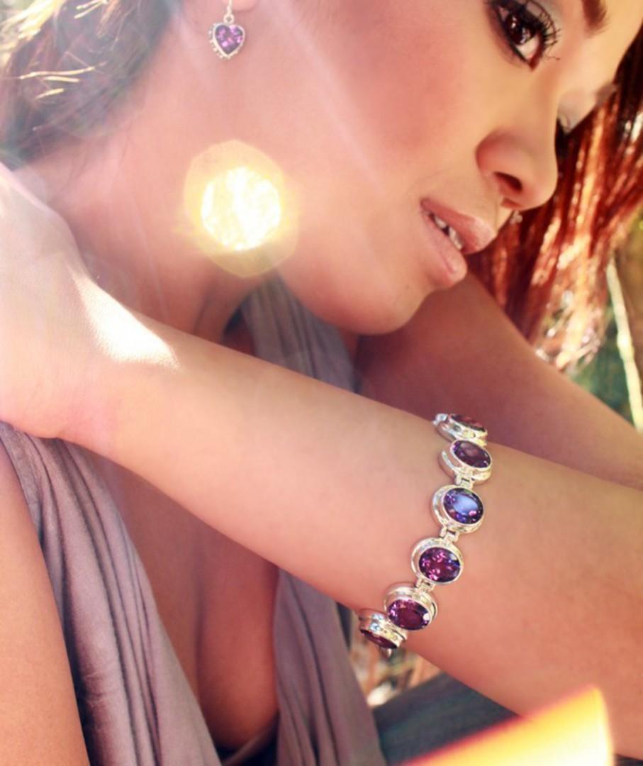 Silver Amethyst Bracelet image 4