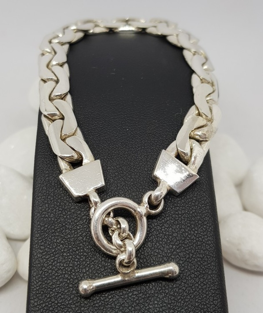 Sterling silver chain bracelet image 1