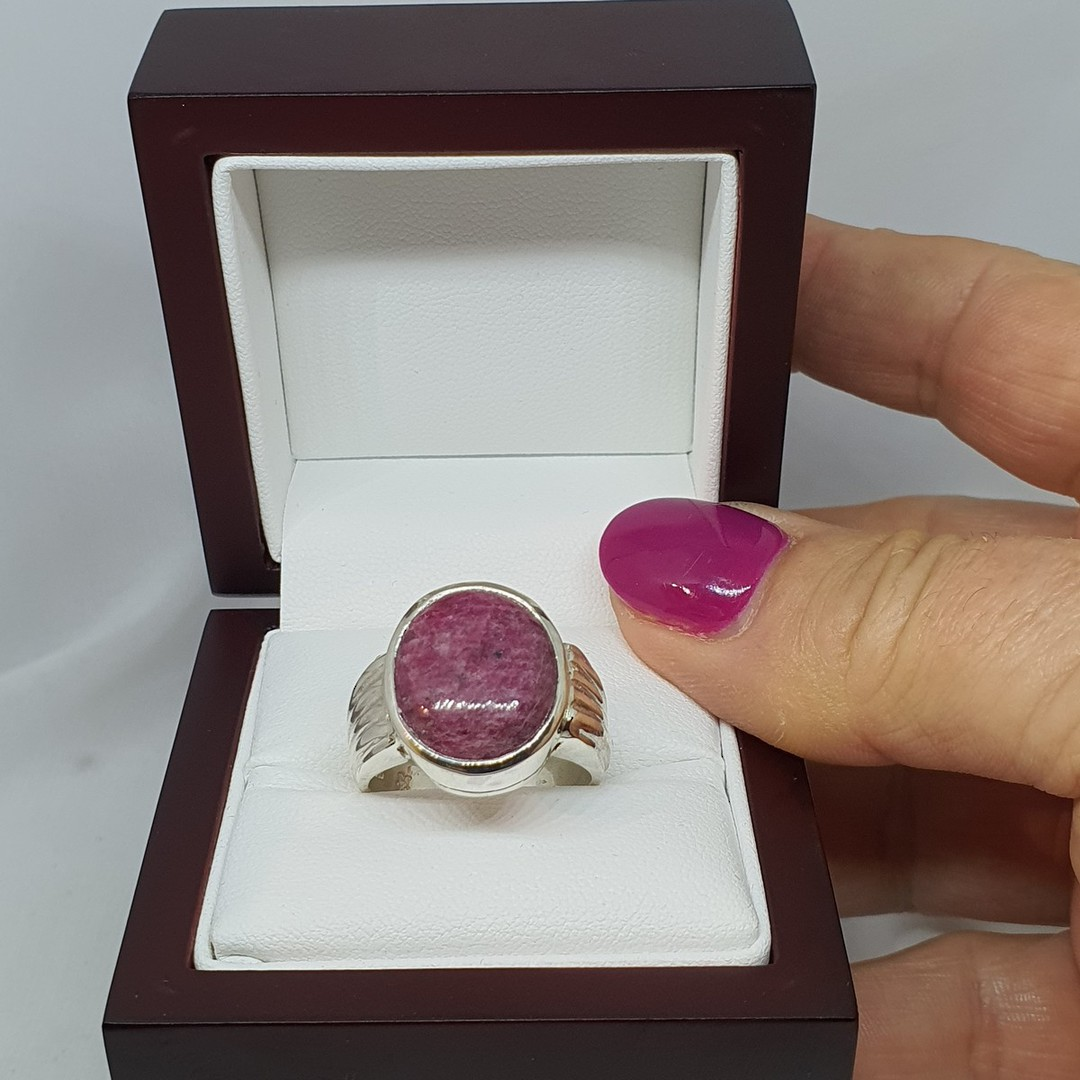 Made in NZ sterling silver ruby ring image 3