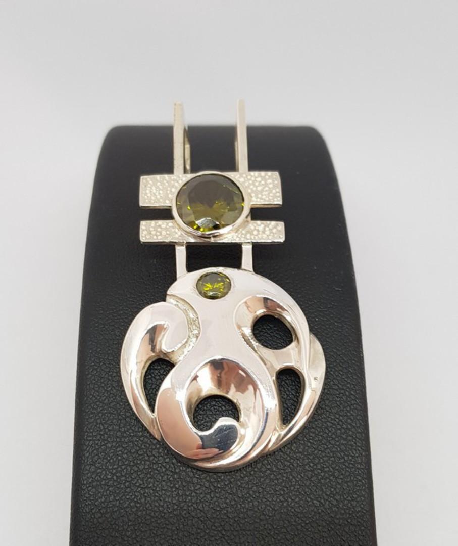 Made in NZ silver koru inspired pendant image 2