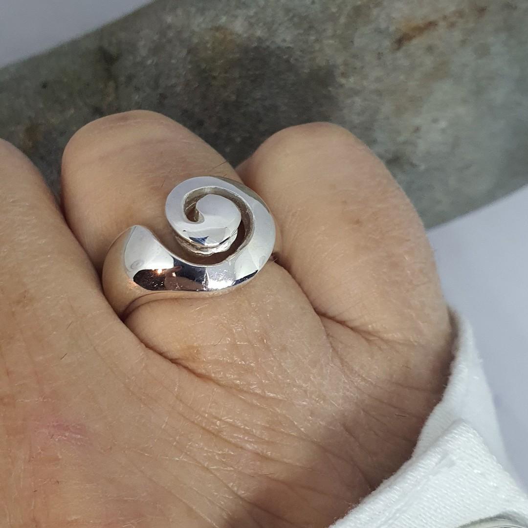Sterling Silver Koru Ring image 3
