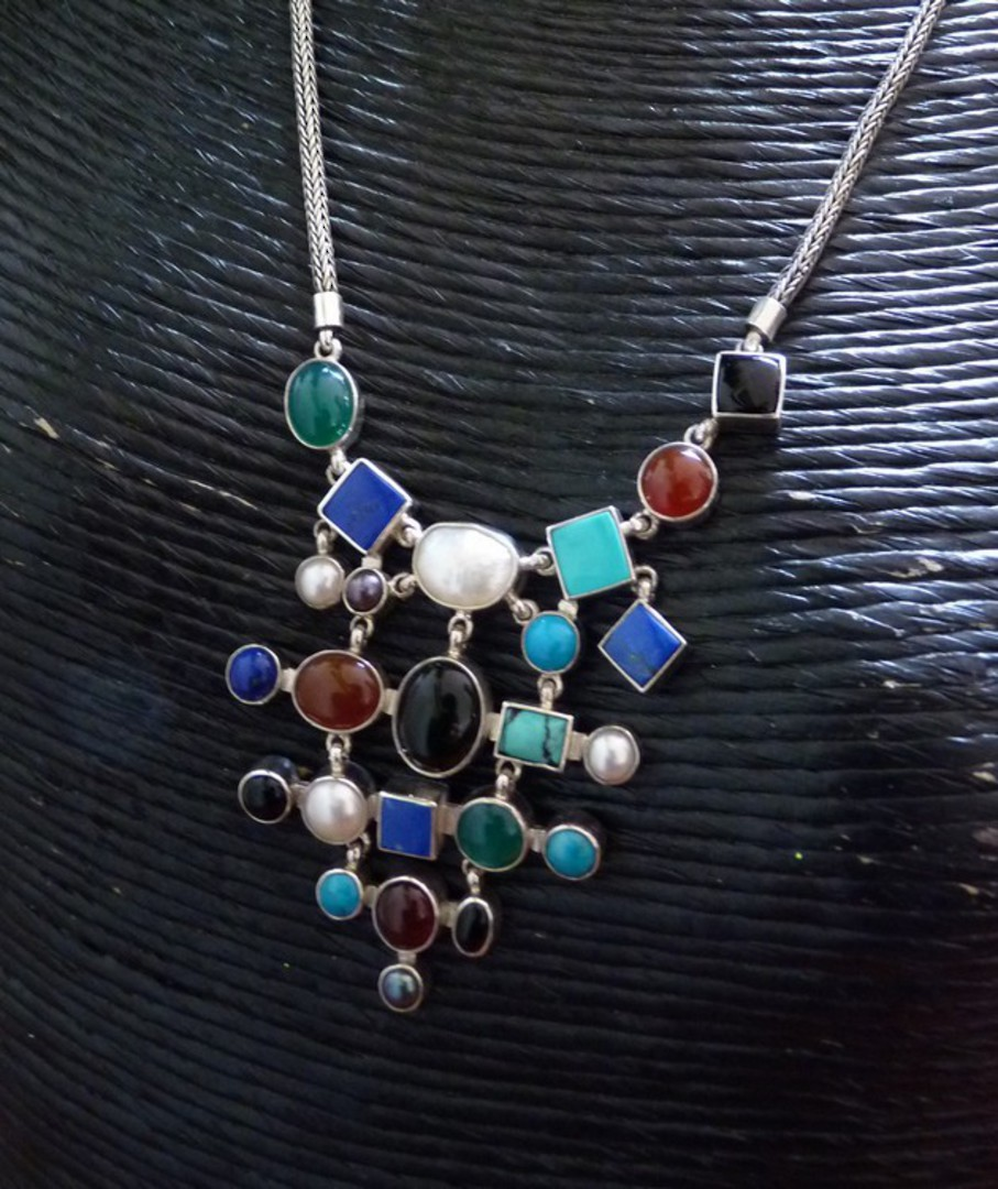 Natural gemstone necklace - colour your world today! image 1