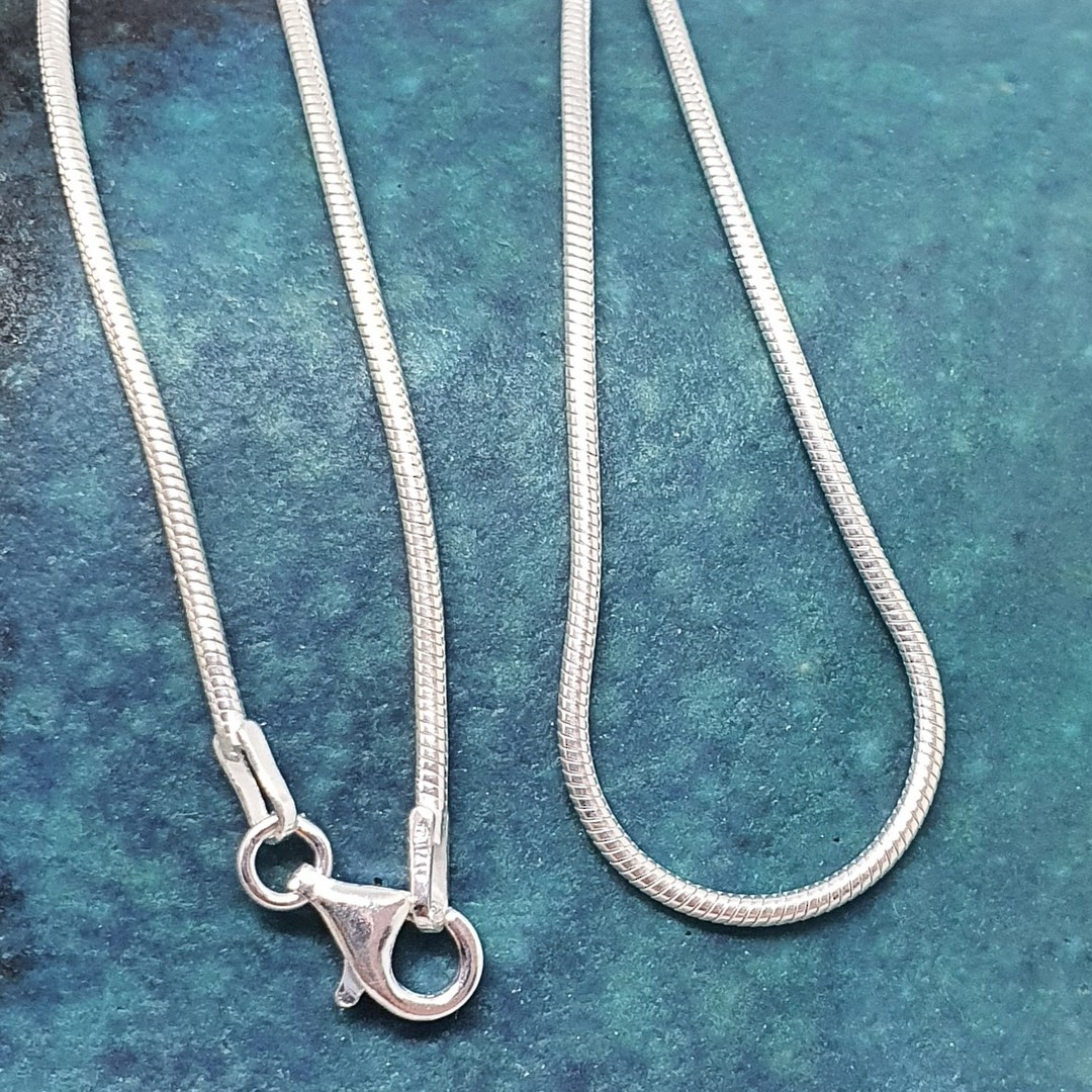 60cms Sterling silver snake chain image 0