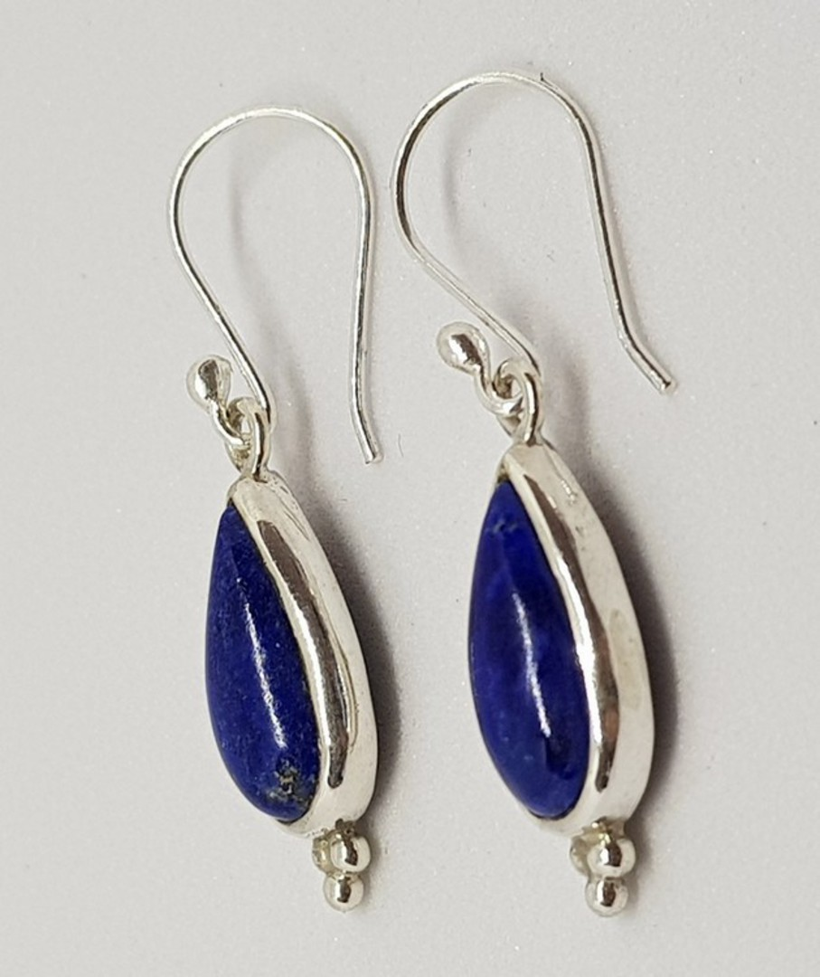 Sterling silver lapis lazuli hook earrings image 1